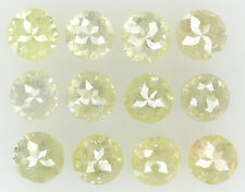 Natural Loose Diamond Light Yellow Color Round I2 Clarity 12 Pcs 1.31 Ct L5628