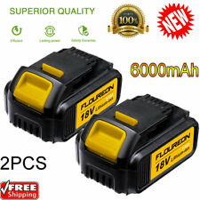 2-Pack 20V 6000mAh Li-ion Battery compatible with DEWALT DCB200 DCB184 DCB180 US