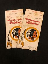 2 Washington Redskins 1-8-84 Tickets, Championship Game Win over 49ers to go SB!