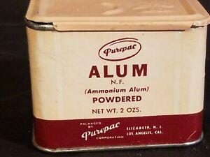 Vintage ALUM PUREPAC Spice Pink Label