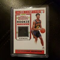 De'Andre Hunter 2019-20 Panini Contenders Rookie Ticket Patch Relic Hawks RC
