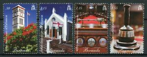 Bermuda Architecture Stamps 2020 MNH Parliament 400th Anniv Flags 4v Set
