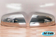 1Set Stainless Steel Mirror Caps V2A Chrome For Opel Zafira B Yr 2005-2008