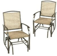 Patio Glider Rocking Chairs Outdoor Deck Loveseat Person Rocker Bench Furniture