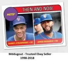 Amed Rosario / Darryl Strawberry #69 Mets 2018 Topps TBT 1969 Rookie Star Design