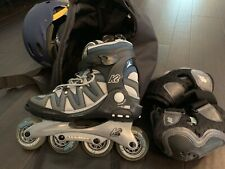 K2 Flight Alx-W Inline Skates, Bag, Helmet, Pads. Us 8.5 Women