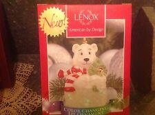 Awesome Lenox color changing Polar bear lit ornament Nib