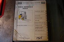 CLARK EC70 Forklift Parts Manual book catalog list spare lift truck index 1965
