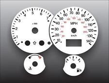 2000-2004 Ford Focus Tach Dash Instrument Cluster White Face Gauges