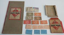 Monopoly board & cards - vintage predecimal set small white box with red sides