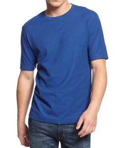 Club Room Classic Mens T Shirt Sz M Cargo Blue Lightweight Crewneck Tee