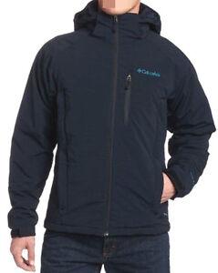 Columbia Single Track II Soft Shell Jacket Mens Ski Snowboard Navy Blue L