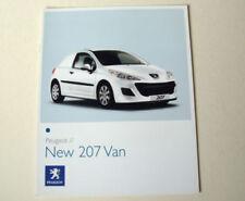 Peugeot 207 2009 Car Sales Brochures