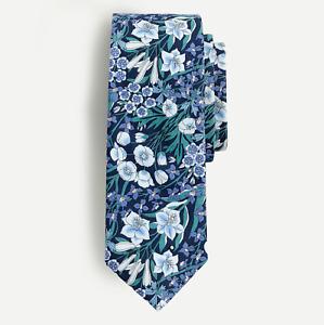 J.Crew Tie in Liberty® Mountain Primrose print Navy One Size item #AN740