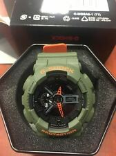 NEW G-SHOCK GA110LN-3A ANA-DIGTAL X-LARGE ARMY GREEN WITH ORANGE