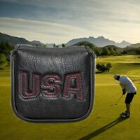 Magnetic Square Mallet Putter Cover Headcover Usa Black For Taylormade Spider S