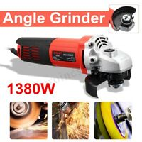 1380W Angle Grinder 100mm Grinding Polishing Machine Cut off Tool With