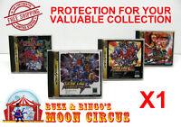 1x SEGA SATURN JAPAN OVERSIZED CD GAME CASE - CLEAR PROTECTIVE BOX PROTECTOR