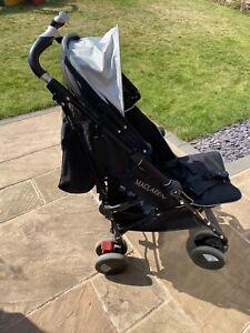 Maclaren Techno XT Stroller (Black) + Raincover & SnoozeShade - Great condition