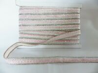1m x 15mm Iron On/Sew On Diamante Trim Trimming for Clothing Crafts: PALE PINK