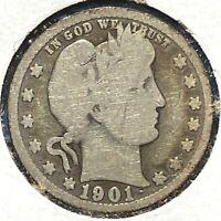 1901 25C Barber Quarter (58389)