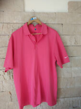 Nike Golf fit dry polo shirt Gr L pink