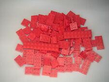 Lego - Vrac / Assortiment de 100 plaques rouges neuves