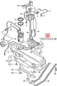 Genuine AUDI TT Coupe Roadster TTS 8N Fuel Tank With Attachments 8N0201055AF