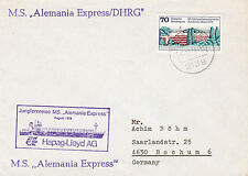 GERMAN CARGO SHIP MS ALEMANIA EXPRESS A SHIPS CACHED COVER