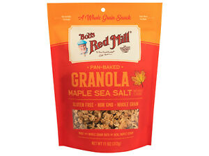 11 OZ Bob's Red Mill Maple Sea Salt Gluten Free Granola Pan Baked 5 PACK