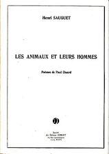 Henri Sauguet sur Poemes de Paul Eluard Les Animaux et leurs Hommes