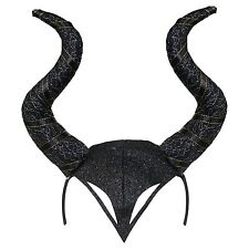 Evil Witch Halloween Gothic Horn Cosplay Fancy Dress Headband - Black