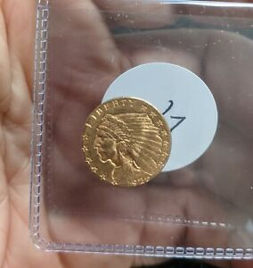 1925-D Quarter Eagle, $2.5 Gold Indian Coin - #987