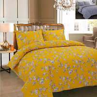 DUVET COVER WITH PILLOW CASE QUILT COVER BEDDING SET SINGLE, DOUBLE, KING