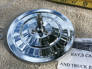 NEW CHROME 1947 TO 1973 GMC AND CHEVROLET TRUCK REPLACEMENT RIBBED CHROME MIRROR