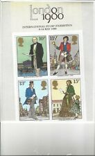 London 1900 Int'L Exhibition 1980 4 Stamp Miniature Sheet See Scan