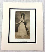 1922 Antico Stampa Goya Ritratto Pittura di Un Lady Dona Tadea Arias De Enriquez