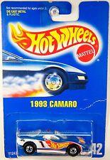 Hot wheels #242 1993 Camaro, Blue Enamel, Long Pipe - Jack Baldwin