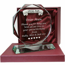 Special Mum Personalised Glass Gift Birthday Christmas Xmas Mothers Day Gifts