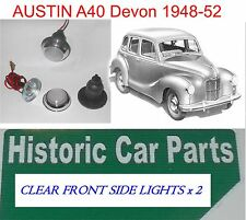 AUSTIN A40 Devon 1948-52 - 2 x CLEAR FRONT SIDE LIGHTS L489