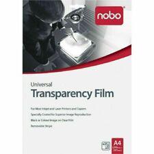 Nobo UF0025 Universal Inkjet Laser Film - Pack of 25