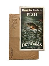 Vintage Early Tuttles Devil Bugs Fly Fishing Lure Catalog