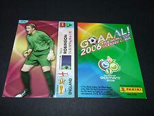 PAUL ROBINSON ENGLAND PANINI CARD FOOTBALL GERMANY 2006 WM FIFA WORLD CUP
