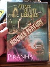 Attack of the Giant Leeches/Piranha (DVD, 2016)Sealed,Sci-Fi,Creatures,Thrillers