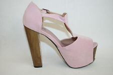 "Truffle Woman's Shoes T-Strap Peep-Toe Chunky Heel Platform 5.5"" Size 4UK 37 EUR"