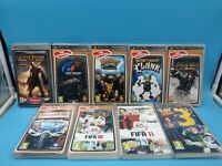 jeu video sony PSP playstation portable lot de 9 jeux sport action BE PAL FR