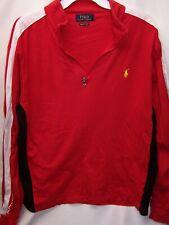 Polo Ralph Lauren size Large men's Colorblock pima pullover 1/2 zip color Red
