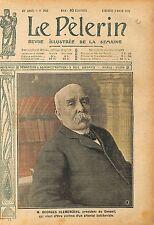 Portrait Georges Clemenceau Président du Conseil Paris France 1919 ILLUSTRATION