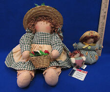 Vintage Country Prairie Doll Shelf Sitter Doll Door Stopper And Magnet Lot Of 3