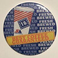 "Super America Best Coffee Guaranteed Advertising Pinback Button Pin 3-1/2"""